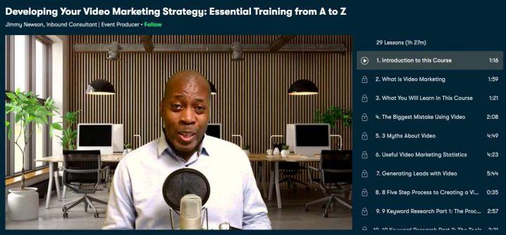 Skillshare Video Marketing Strategy Course Screenshot Image