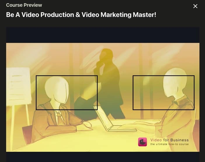 Udemy Video Production Course Screenshot Image