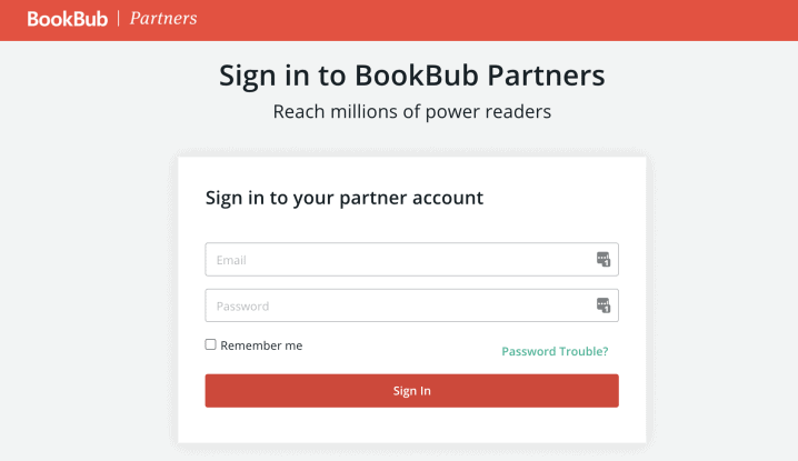 bookbub partners dashboard login image