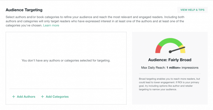 audience targeting for bookbub ads